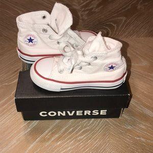 TODDLER WHITE HIGHTOP CONVERSE